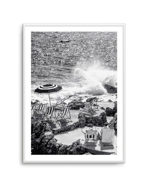 Capri Beach Club B&W I - Olive et Oriel | Shop Art Prints & Posters Online