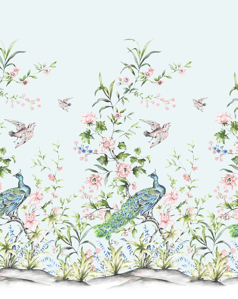 Chinoiserie Luxe I Wallpaper - Olive et Oriel