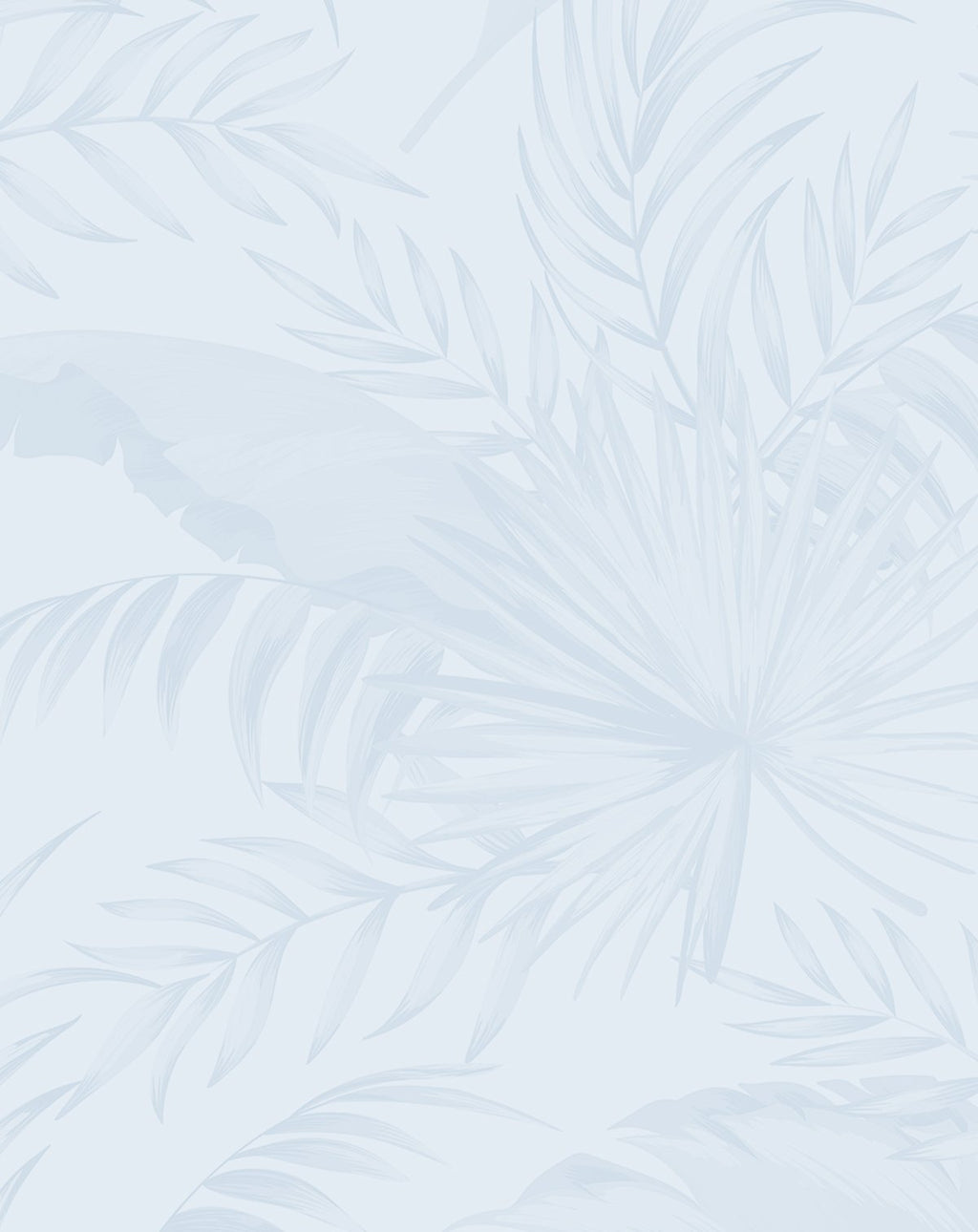 Coastal Luxe Palms Wallpaper | Duck Egg Blue - Olive et Oriel