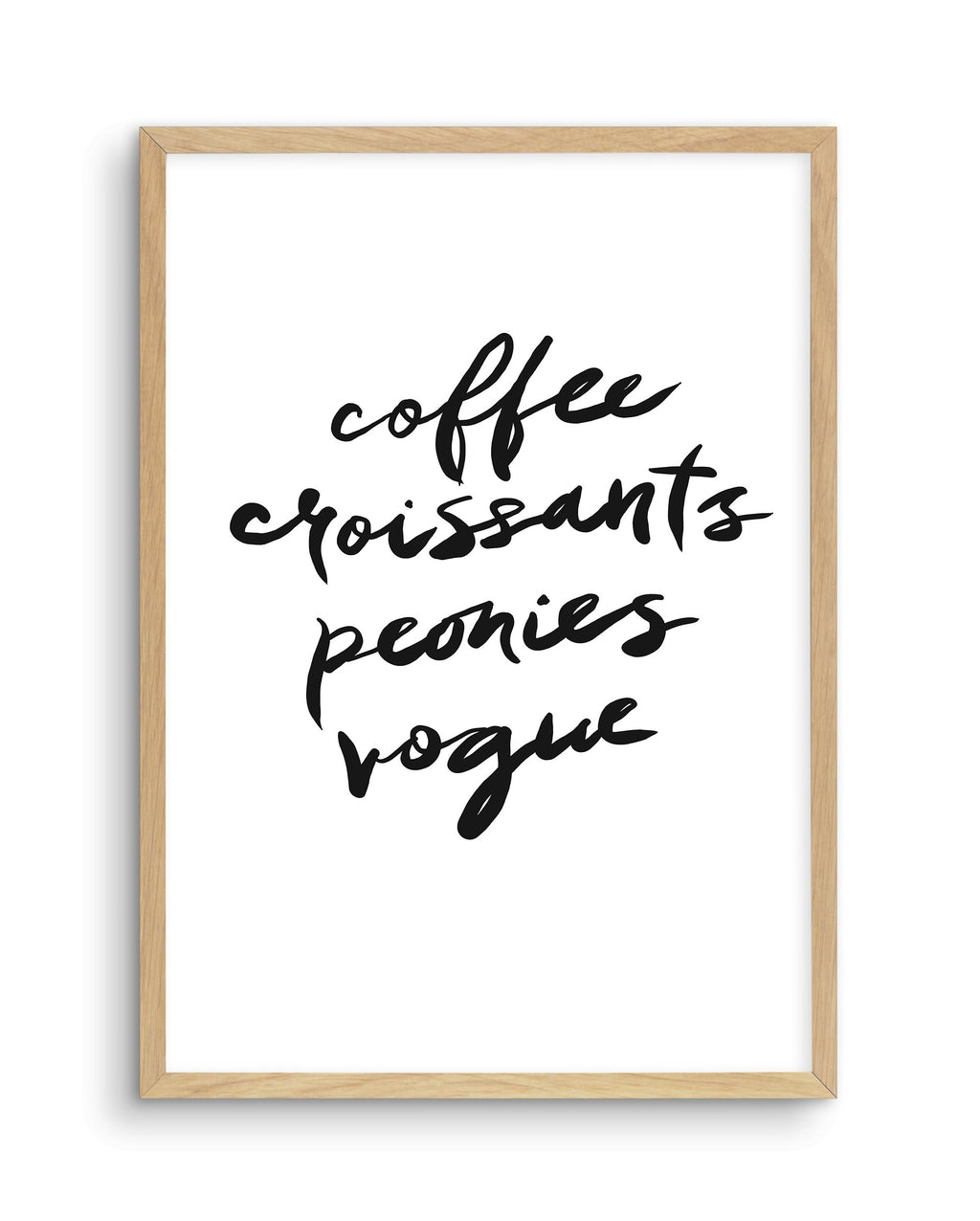 Coffee Croissants Peonies Vogue - Olive et Oriel | Shop Art Prints & Posters Online