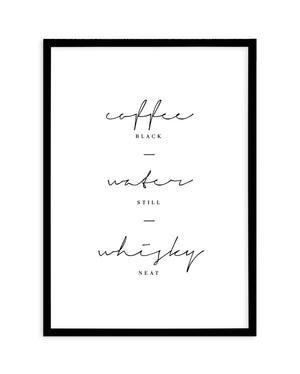 Coffee Water Whisky | Personalise Me! - Olive et Oriel | Shop Art Prints & Posters Online