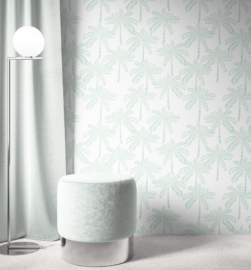 Cruisey Palms | Mint Wallpaper - Olive et Oriel