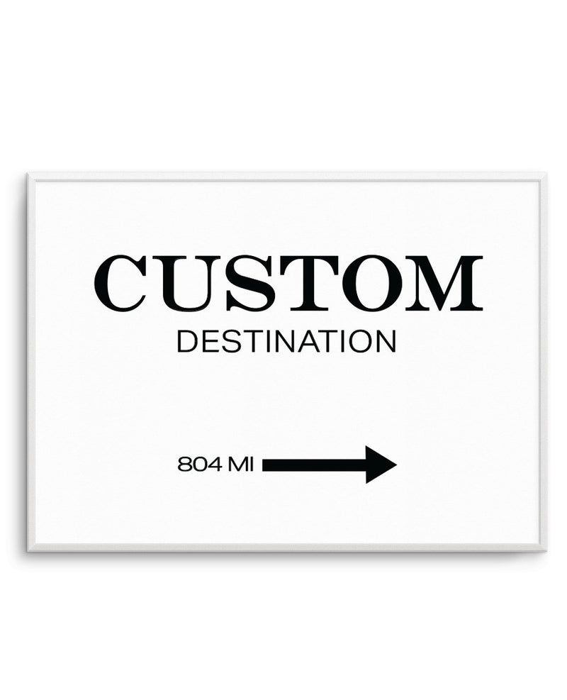 Custom Destination Poster - Olive et Oriel | Shop Art Prints & Posters Online