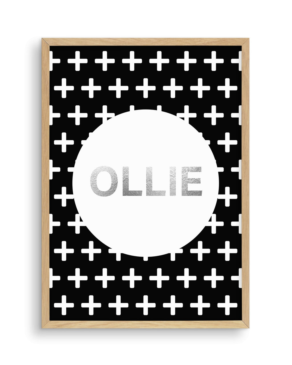 Customised Name | Black Plus - Olive et Oriel | Shop Art Prints & Posters Online
