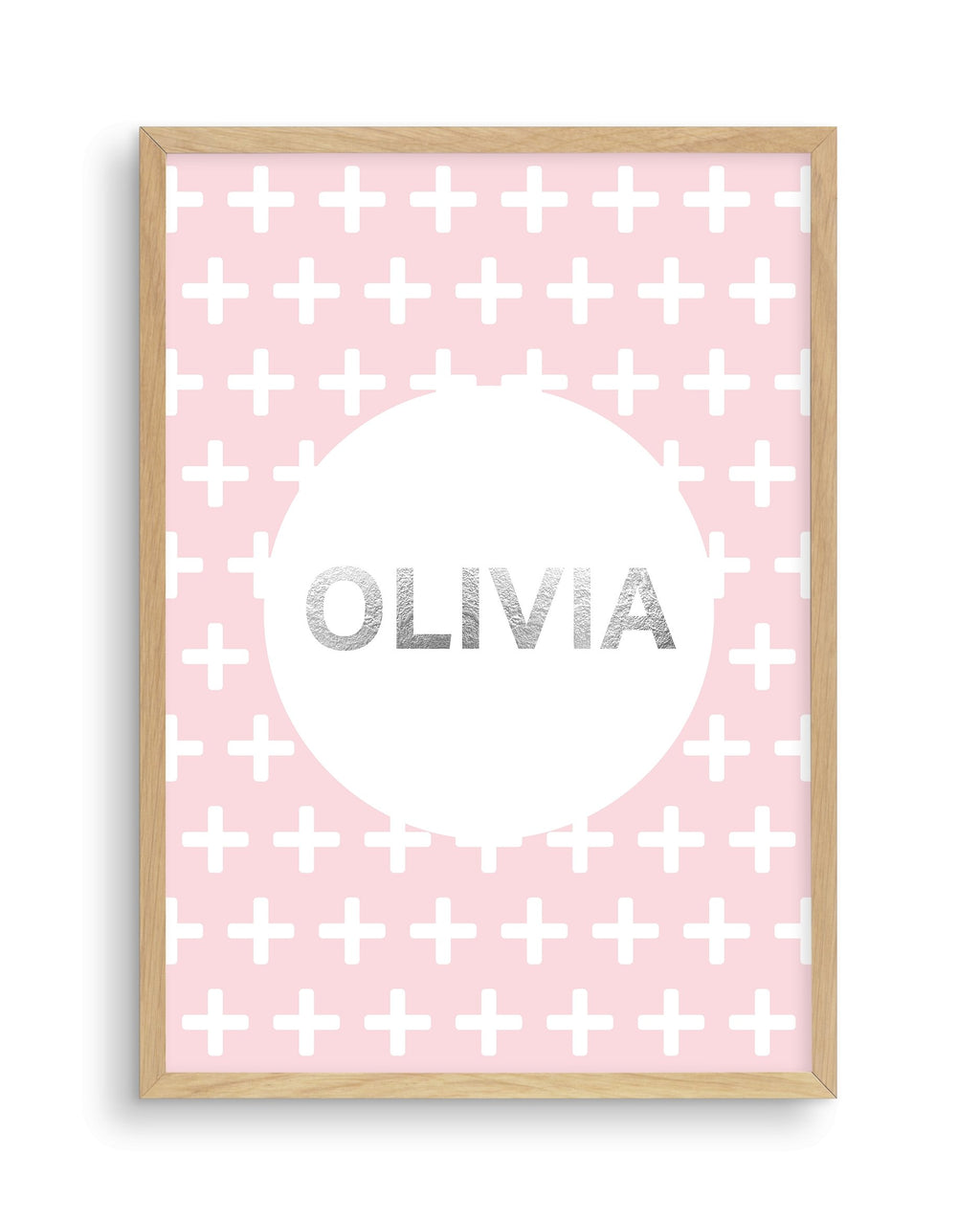 Customised Name | Pink Plus - Olive et Oriel | Shop Art Prints & Posters Online