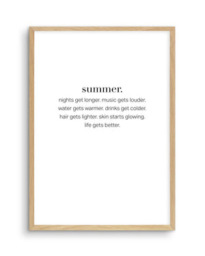 Definition Of Summer - Olive et Oriel
