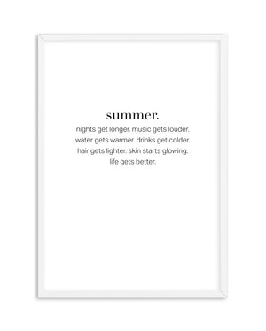 Definition Of Summer