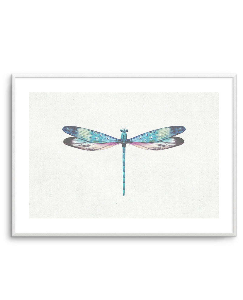 Dragonfly on Linen I - Olive et Oriel