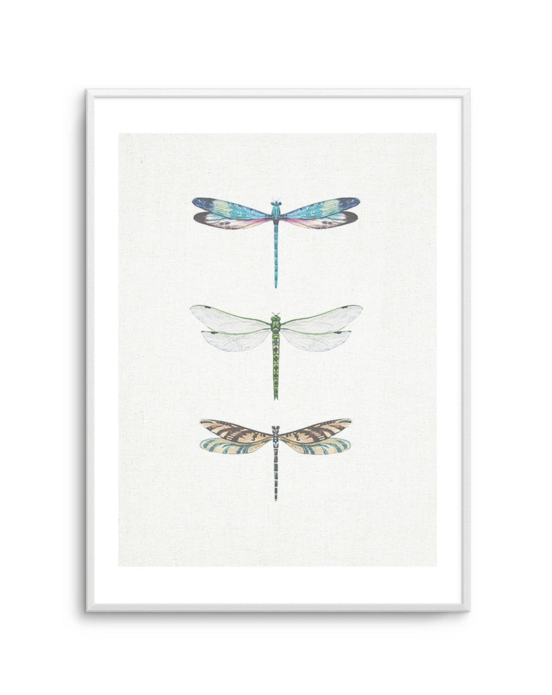 Dragonfly on Linen PT - Olive et Oriel