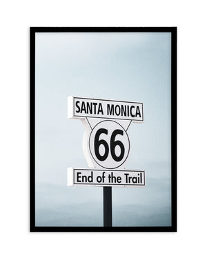 End Of The Trail | Santa Monica - Olive et Oriel | Shop Art Prints & Posters Online