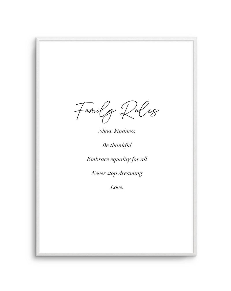 Family Rules | Personalise Me! - Olive et Oriel