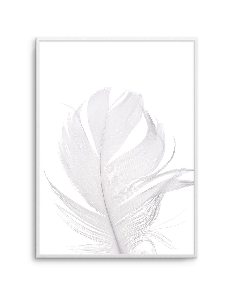 Feather II | White - Olive et Oriel | Shop Art Prints & Posters Online