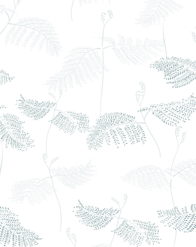 Ferns in Seafoam & Moss Wallpaper - Olive et Oriel