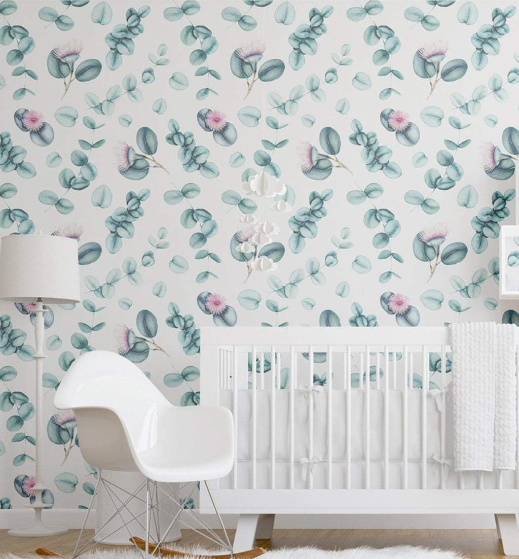 Flowering Eucalyptus Wallpaper - Olive et Oriel