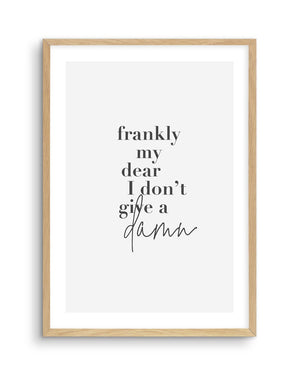 Frankly My Dear - Olive et Oriel