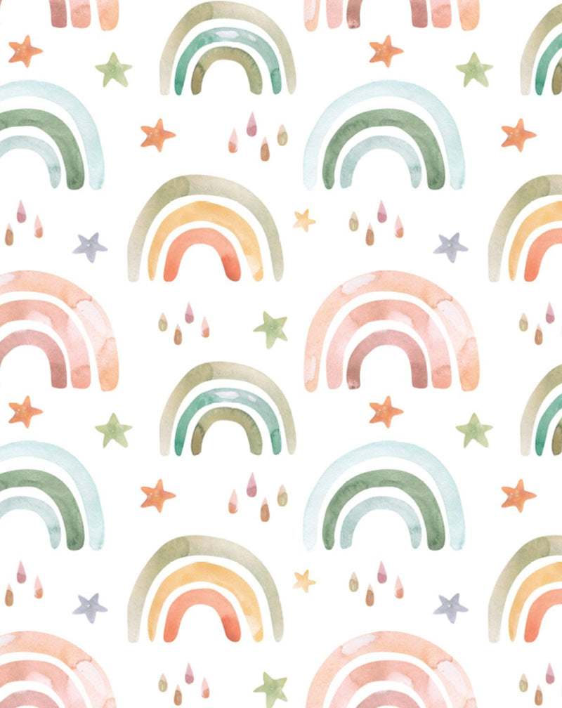 Fun Rainbows I Wallpaper - Olive et Oriel