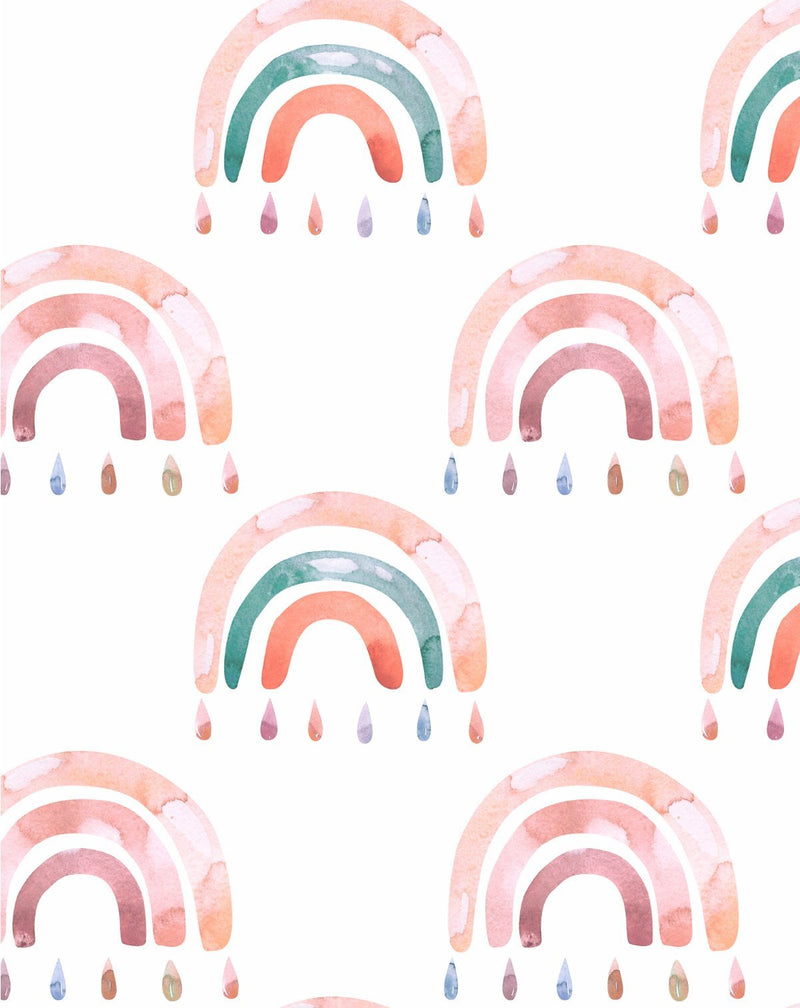 Fun Rainbows II Wallpaper - Olive et Oriel