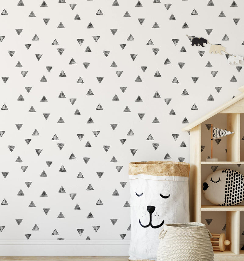 Fun Triangles Wallpaper - Olive et Oriel