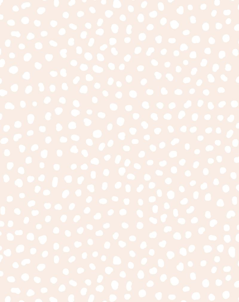 Gigi's Dots Wallpaper in Sand - Olive et Oriel