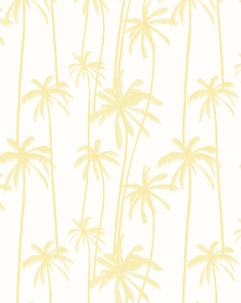 Good Palms Lemon Butter Wallpaper - Olive et Oriel