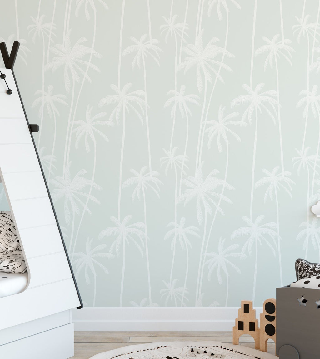 Good Palms Sage Wallpaper - Olive et Oriel