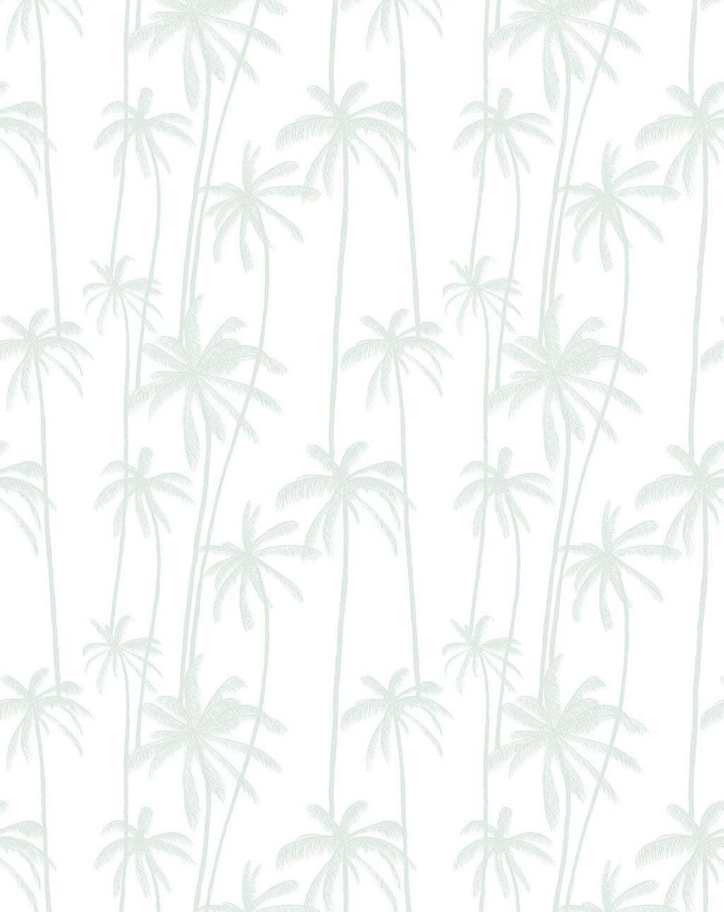 Good Palms Seafoam Wallpaper - Olive et Oriel