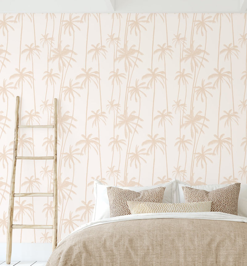 Good Palms Soft Terracotta Wallpaper - Olive et Oriel