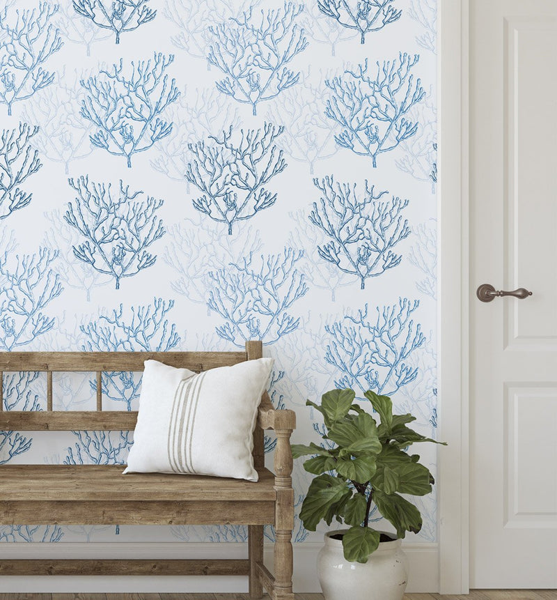 Hamptons Coral Wallpaper