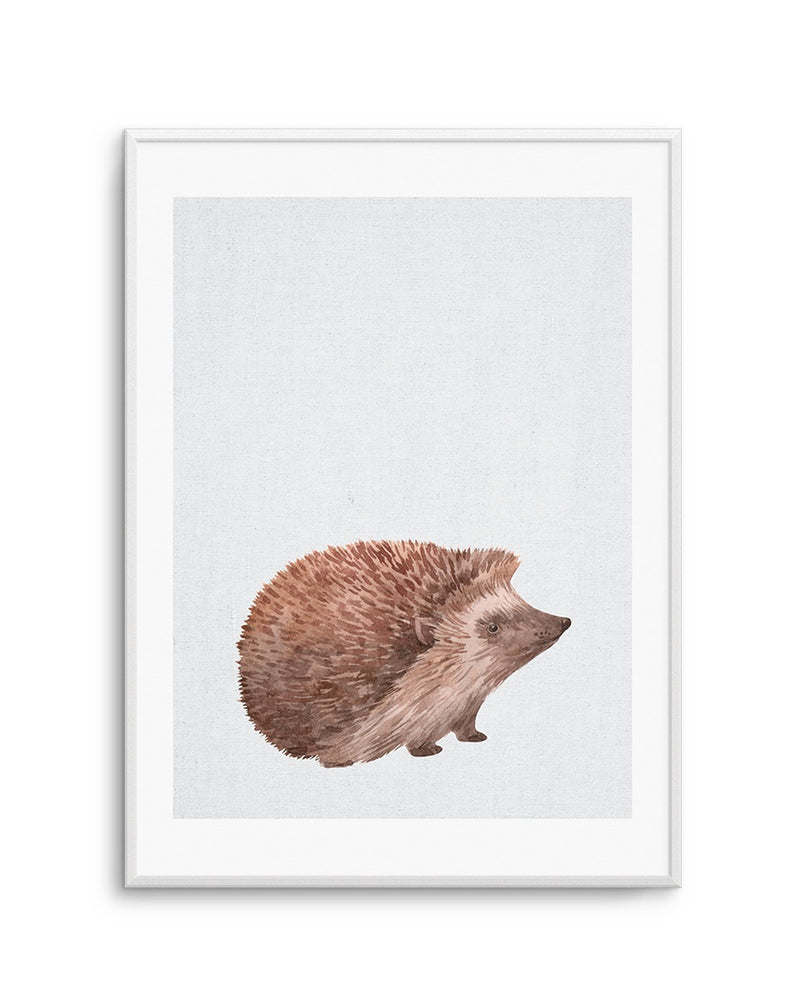 Hedgehog on Linen I - Olive et Oriel