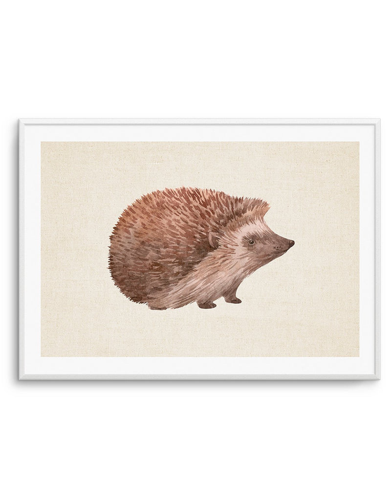 Hedgehog on Linen I LS - Olive et Oriel