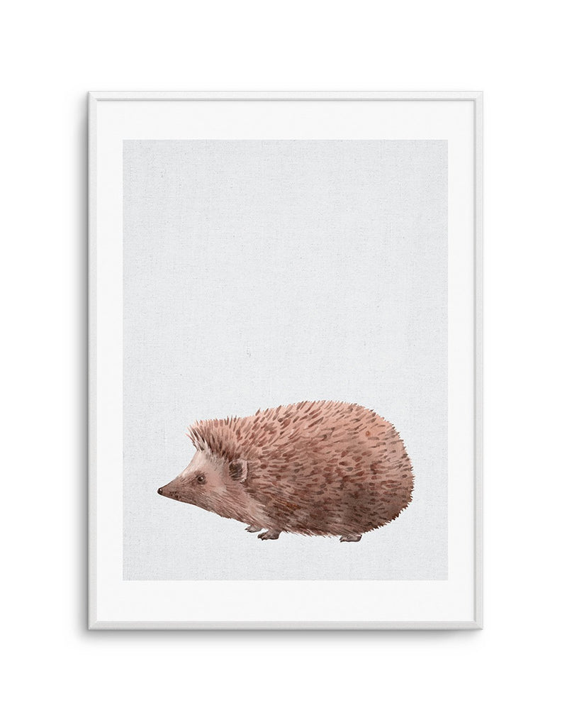 Hedgehog on Linen II - Olive et Oriel