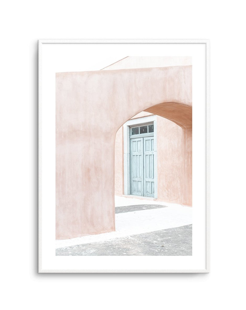 House Of Peach I | Santorini - Olive et Oriel | Shop Art Prints & Posters Online