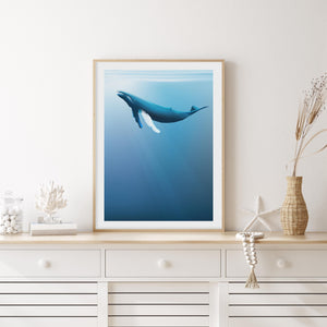 Humpback | Graphic Whales Collection - Olive et Oriel