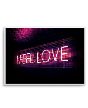 I Feel Love | Neon - Olive et Oriel | Shop Art Prints & Posters Online