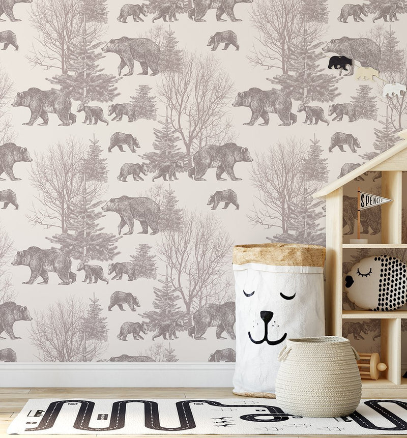 In the Woods Wallpaper - Olive et Oriel