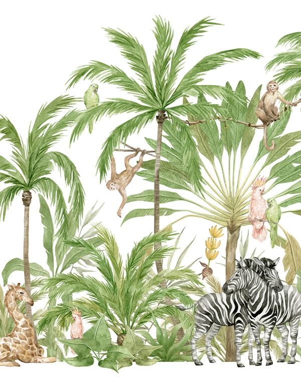 Jungle Love Wallpaper Mural - Olive et Oriel