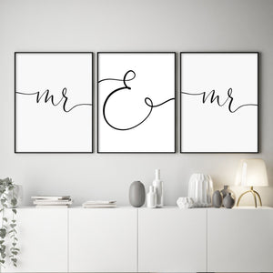 Just Married Trio | Marriage Equality - Olive et Oriel | Shop Art Prints & Posters Online