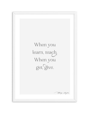Learn, Teach, Get, Give - Olive et Oriel