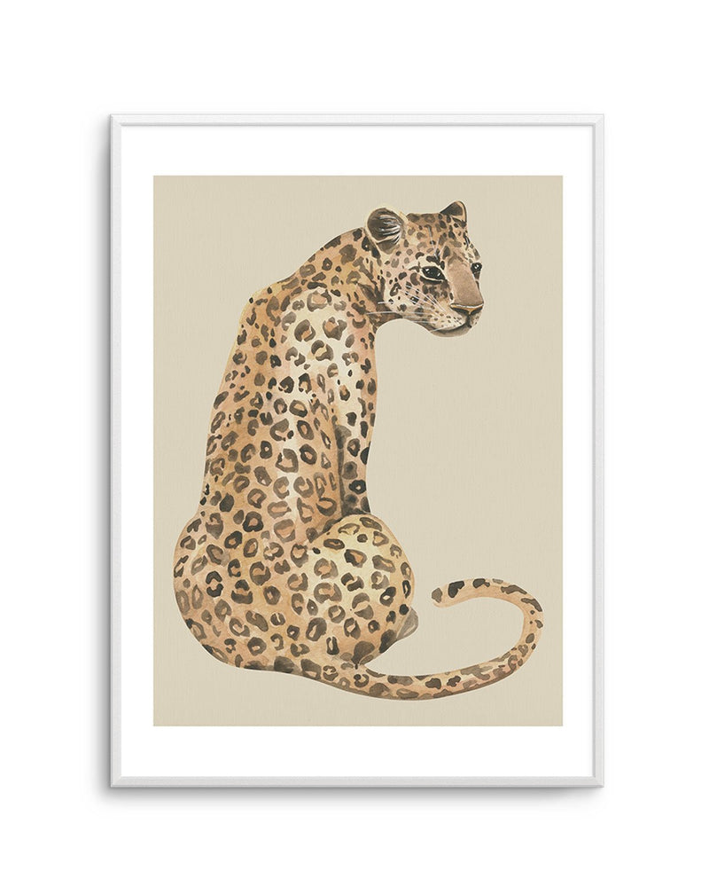Leopard in Watercolor I - Olive et Oriel