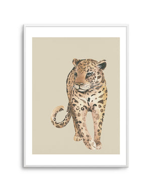 Leopard in Watercolor II - Olive et Oriel