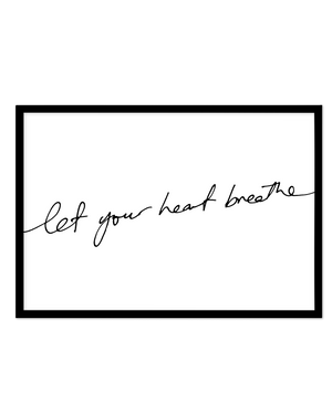 Let Your Heart Breathe - Olive et Oriel | Shop Art Prints & Posters Online
