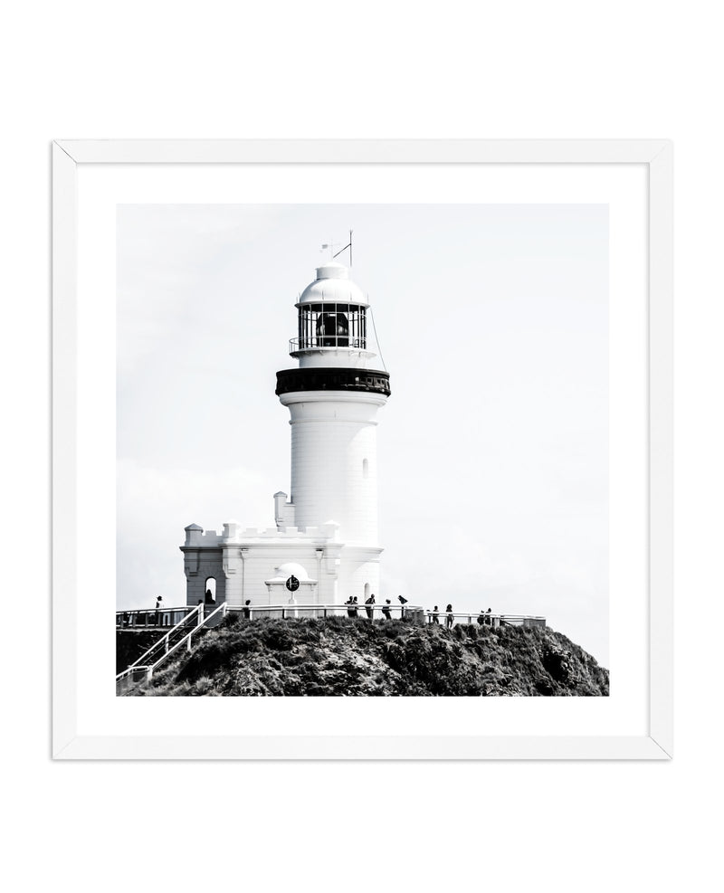 Lighthouse Byron Bay SQ | ON SALE - Olive et Oriel | Shop Art Prints & Posters Online