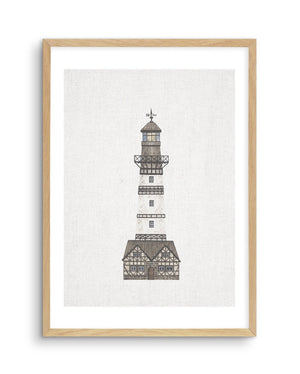 Lighthouse on Linen I - Olive et Oriel