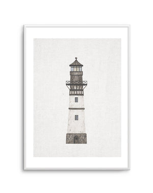 Lighthouse on Linen II - Olive et Oriel
