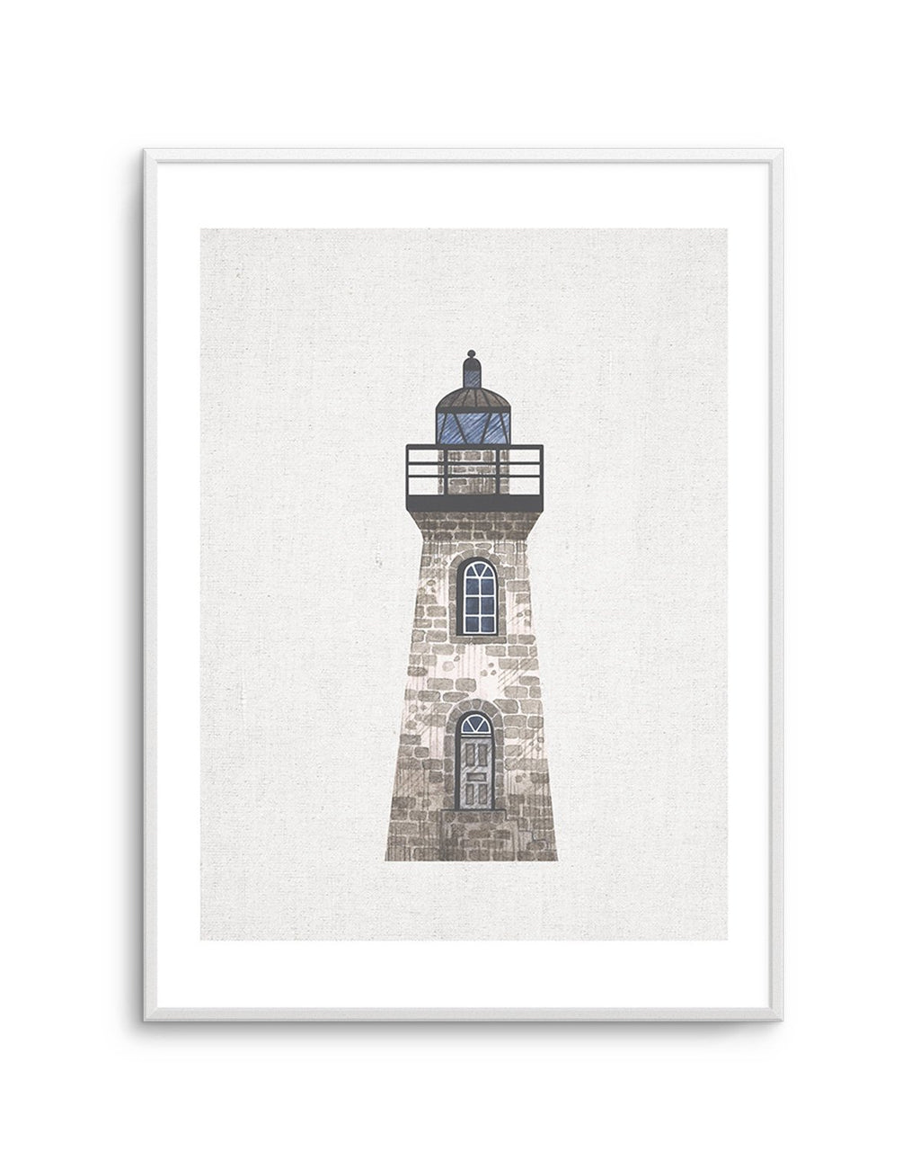 Lighthouse on Linen III - Olive et Oriel