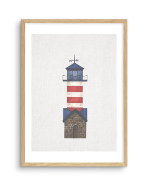 Lighthouse on Linen IV - Olive et Oriel