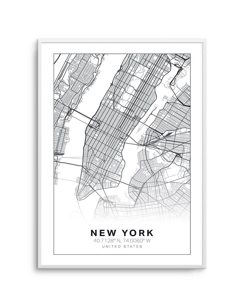 Line Art Map Of New York - Olive et Oriel