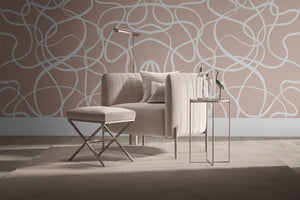 Lined up | Nude Wallpaper - Olive et Oriel