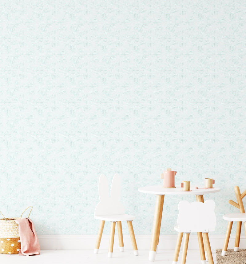 Little Arches in Aqua Wallpaper - Olive et Oriel