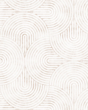 Little Arches in Beige Wallpaper - Olive et Oriel